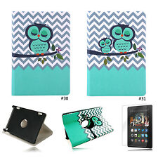 Cute 360° PU Slim Stand Flip Case Cover For Amazon Kindle Fire HD 7 2014 4th Gen