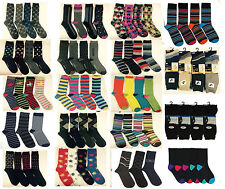 12 Pairs Mens Designer Socks, Cotton Rich Lycra Design Formal Sock Size UK 6-11