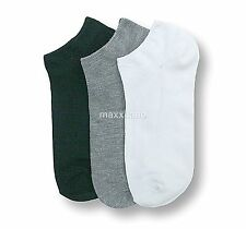 12 Pairs Lot Mens Womens No Show Multi-Color Sport Socks Size 9-11 Crew Peds New