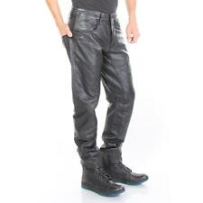 G-Star Pants A Crotch Leather Tapered Black Men New