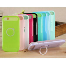i-Glow Hybrid Color Luminous Silicone Stand Case Cover For Apple iPhone 4 4S 4G