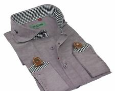 Mens Dusty Purple Smart Casual Slim Fit Long Sleeve Italian Designer Style Shirt