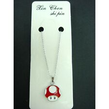 Super Mario Bros. Mushroom Charms Pendants Necklace with 40 cm Chain FREE SHIP