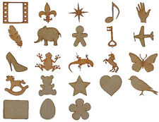 Laser Cut Wooden MDF Craft Shapes Blanks MULTIPLE DESIGNS - Small
