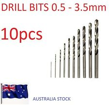 10 pcs Drill Bit 0.5-3.5mm HSS Straight Shank Electrical Tool Twist Drilling
