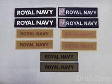 Pair of British Royal Navy TRF Unit ID Badges Patches Assorted Colours