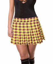 YELLOW RED and BLACK  PLUS SIZE SCHOOLGIRL PLAID TARTAN PLEATED MINISKIRTUnley