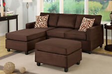 Sectional sofa microfiber sectional couch 3 piece living room set sofa furniture