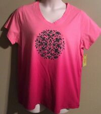 "Women's Plus.  size ""Made For Life"" activewear short sleeve top shirt Pink NWT"