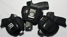 ACE CASE HOLSTER BELT/IN THE PANT AMBIDEX FAUX LEATHER BLACK SIZE IN DESCRIPTION