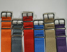 NATO watch strap 18 20 22 FREE P&P UK - Add a strap tool and new pins for £1!!!
