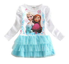 Vestito tutù Bambina  2 - 6 anni years - Girl dress Elsa Anna - Frozen - A00040