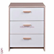 Alicia 3 Drawer Chest - BNIB - bedside cabinet