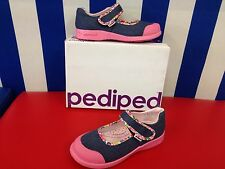 "Pediped "" Bree"" Girls casual shoes in Denim with pink Detail ( new for 2015)"