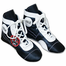 VELO Leather Boxing Shoes Professional Boxer Boots Full Leather Wrestling Shoe