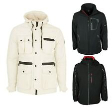 MENS NEW JACKET ETO EJK293 HOODED ECRU COLOUR ALL SIZES S TO XXL RRP £49.99
