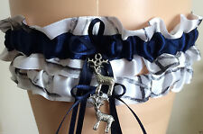 Timber Snowfall Navy Blue Camo Garter Set Wedding Prom INCLUDES Tossing Garter