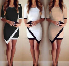 Summer Fashion Womens Bandage Bodycon Cocktail Evening Party Wrap Mini Dress New