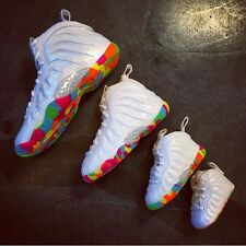 Nike Air Lil Posite FRUITY PEBBLES Foamposite 644791-100 CB TD PS GS Full Family