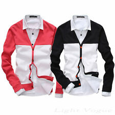 8s New Autumn Men's Slim Fit Cotton Knit V-Neck Casual Jumper Sweater Cardigan