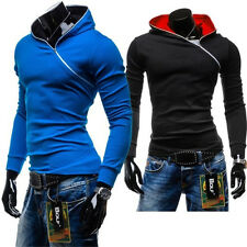 NEW Men's Casual Fashion Slim Fit Sexy Designed Hoodies Sweats Jackets Coats qxr