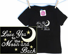 Love You to the Moon and Back Baby or Toddler T-Shirt Infant Child Stars Sky NWT