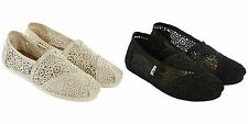 TOMS Crochet Womens Classic Flat Shoes  Select Color