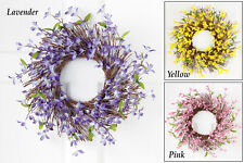 Collections Etc Spring Floral Forsythia Sprigs Wreath