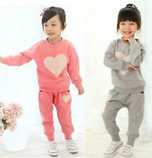 Brand New Kid Toddler Clothing Girls Baby Tracksuit Tops+Trousers Suit Sz12M-5Y