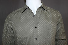 GAP Gray Green Pattern Shirt, LS, Vintage Soft Wash, Classic Fit, New with Tags