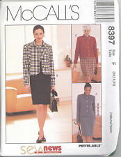 McCall's 8397 Misses' Dress and Lined or Unlined Jacket - Sewing Pattern