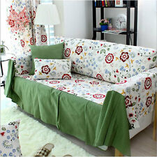 Home textile100%cotton canvas flower Sofa cover/slipcovers Pastoral Brief SP1051