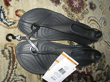 NWT Womens Crocs SEXI Flip Sandals Thong Gladiator Black 5,6,7,8,9,10,11