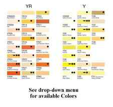 COPIC SKETCH MARKERS YELLOWS AND YELLOW-REDS Y & YR Series