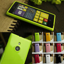 Soft Silicone Gel Case Cover For Nokia Lumia 925 + Screen Protector
