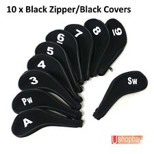 Golf Iron Club Covers Sleeve Zipper Protect x10pcs for Mizuno Ping Taylormade