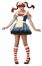 RAG DOLL HALLOWEEN COSTUME for ADULT SEXY Ladies / Womens by CALIFORNIA COSTUMES