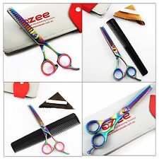 "6.5"" Professional Pet Dog Grooming Scissor Straight Hair Thinning Shears Kit"
