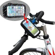 2in1 Waterproof Phone Bag Case + Bike Bicycle Handlebar Mount Cradle Holder