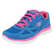 Girls Align blue / pink leather / synthetic trainers by Skechers £35.00