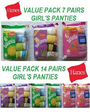 Hanes Girl's 100% Cotton Panties Size 16 (Briefs, Hipsters or Bikinis ) 7&14 Pk