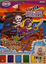 NEW PIRATES OF THE SEA MAGIC PAINT Pirate Parrot Treasure Chest POSTERS  SAVVI