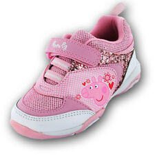 Peppa Pig Anastacia Girls Trainers - Pink/Velcro (Sizes 5,6,7,8,9,10)