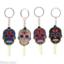 DAY OF THE DEAD FUNKY PVC SKULL KEY COVER  VARIOUS COLOURS COLLECTABLE