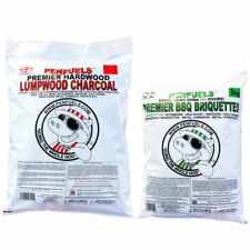 Multiples : 5kg Lumpwood + 5kg BBQ Charcoal Briquettes = CRAZY OFFER - BARBECUE
