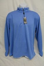 New Pebble Beach Men's Performance 1/4 Zip Pullover Blue Sweater Size M/L/XL/XXL
