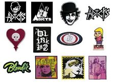 THE ADICTS alkaline trio BLINK 182 blondie - official SEW ON PATCH logo patches