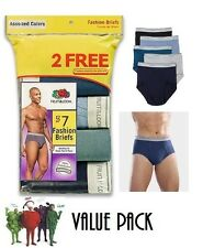 FRUIT OF THE LOOM 7 PAIR FASHION BRIEFS  (NEW SIZING FOR A BETTER FIT) VALUE PK.