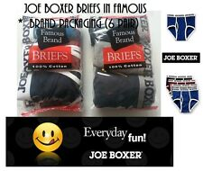 JOE BOXER 6 PAIR MENS BRIEFS IN FAMOUS BRAND PACKAGING ASSORTED STYLES & COLORS