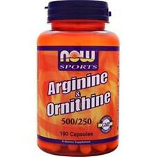 NOWArginine & Ornithine 500mg/250mg 100 caps buy 1-2-3 or more items & save